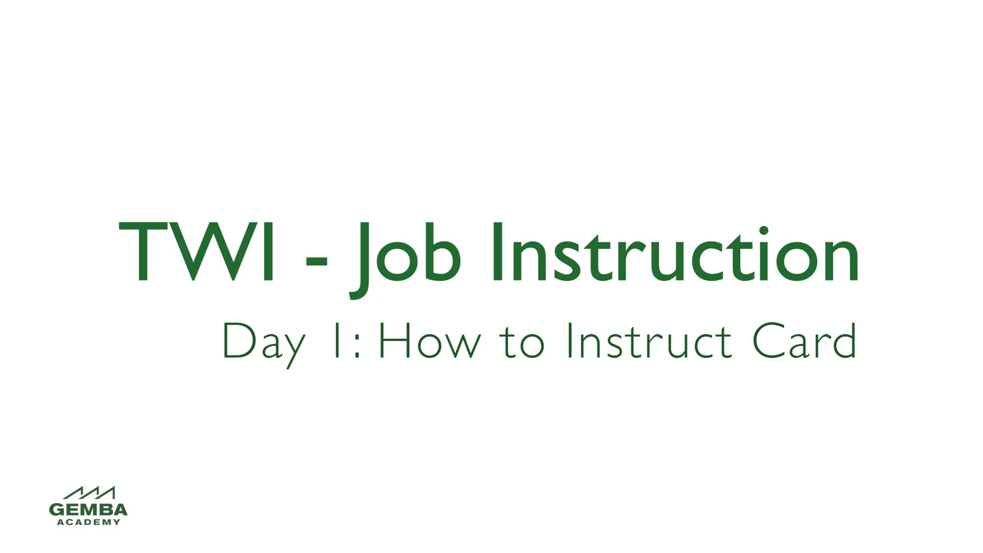 How to instruct 5